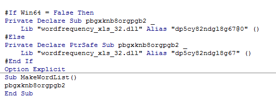 VBA code after compilation with VBA Compiler